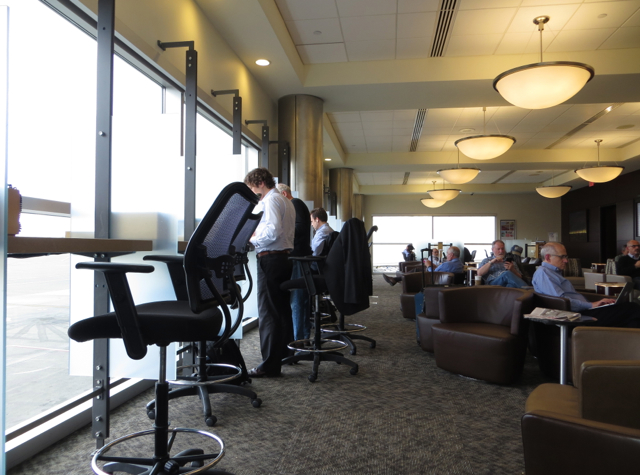 Alaska Airlines Board Room Seattle Lounge Review - Crowded