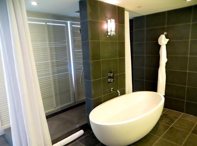 Andaz Maui at Wailea Suite Bathroom - Rain Shower and Soaking Tub