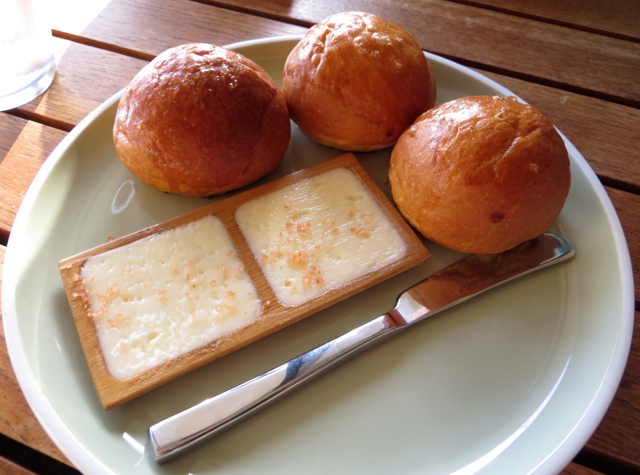 Ka'ana Kitchen Review - Dinner Rolls and Butter with Hawaiian Red Salt