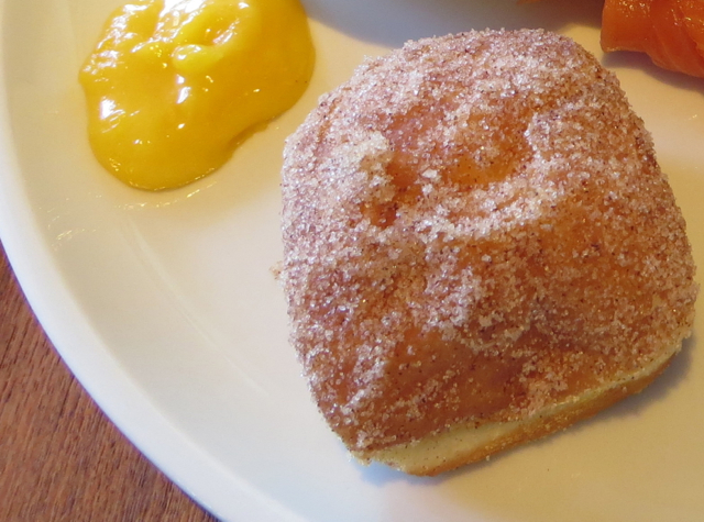 Malasada with Passionfruit Butter, Ka'ana Kitchen Breakfast