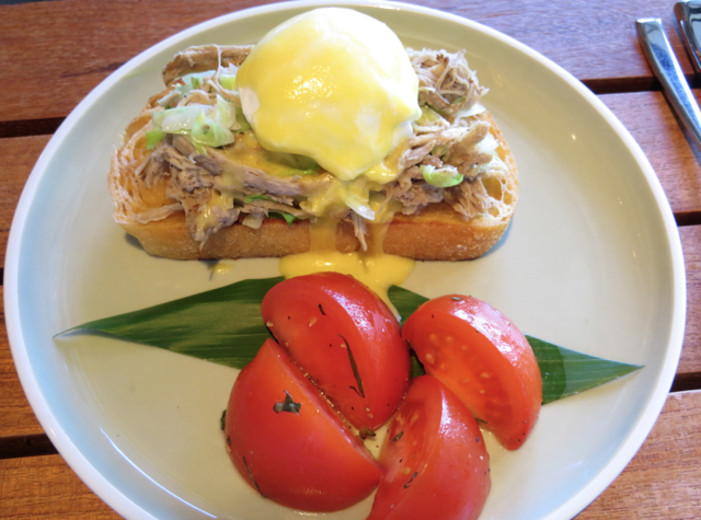 Kalua Pork Benedict, Ka'ana Kitchen Breakfast