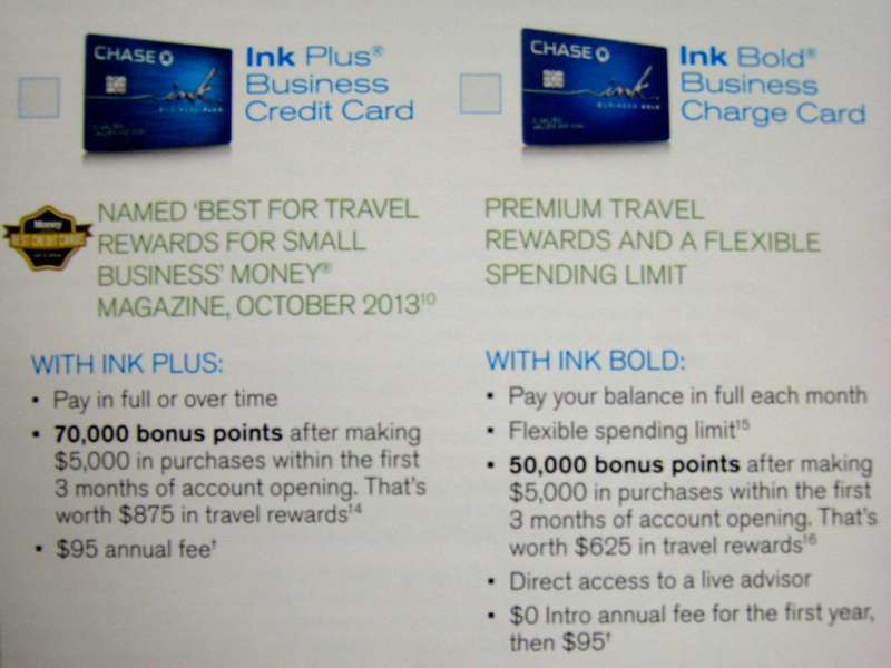 70k Ink Plus Signup Bonus Offer