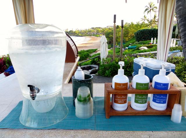 Four Seasons Maui at Wailea Review - Complimentary Sunscreen