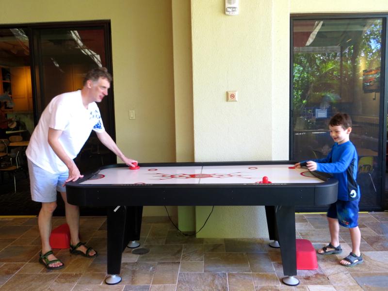 Four Seasons Maui at Wailea Review - Air Hockey at Kids' Club