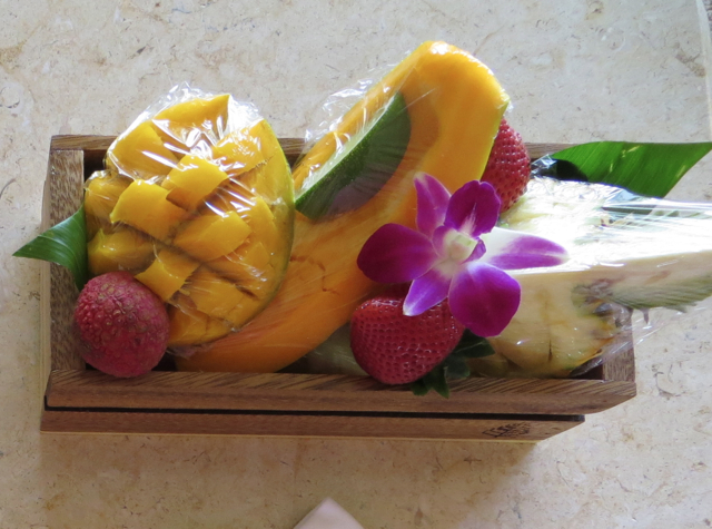Four Seasons Maui at Wailea Review - Fruit Welcome Amenity