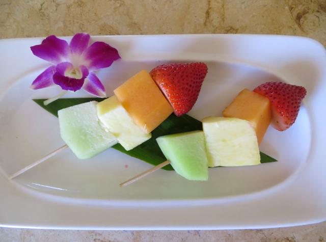Four Seasons Maui at Wailea Review - Fruit Skewers