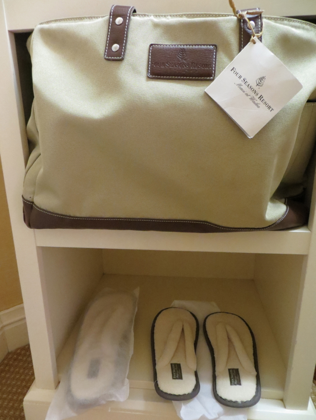 Four Seasons Maui at Wailea Review - Beach Bag and Slippers