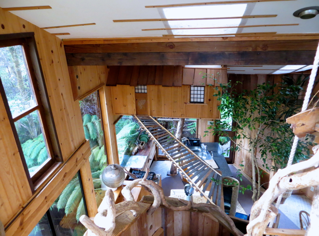 Hawaii Volcano Treehouse Review - View from 2nd Floor