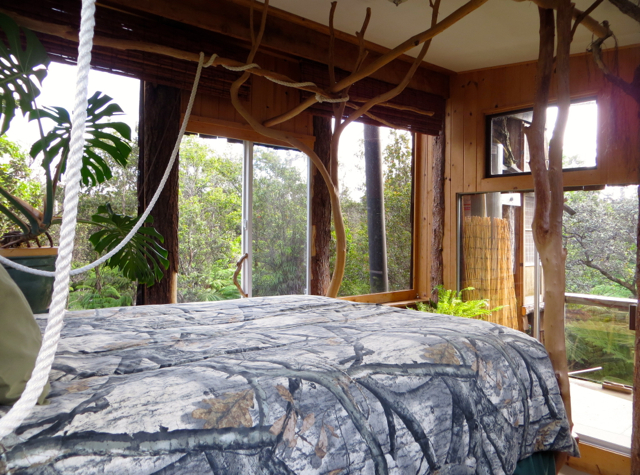 Hawaii Volcano Treehouse Review - View from Bed
