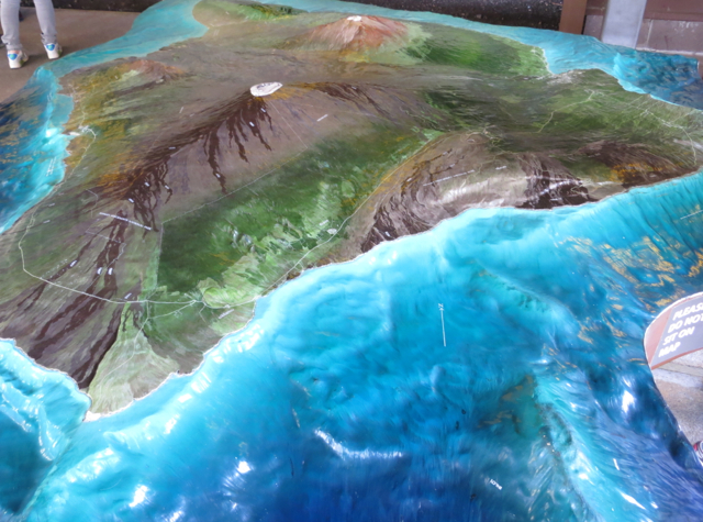 Hawaii Volcanoes National Park Review - Topographical Map at Visitor Center