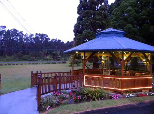 Kilauea Lodge Lawn and Gazebo