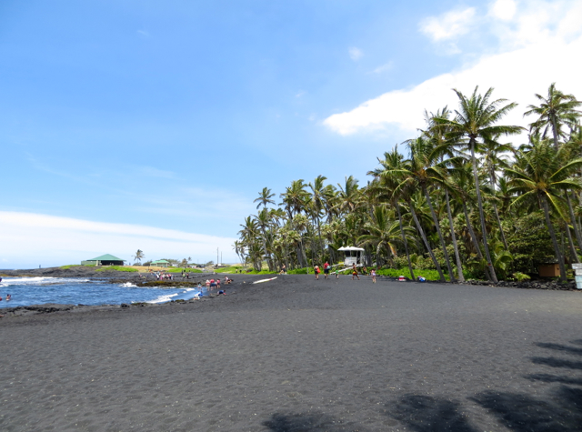 Punalu'u Black Sand Beach: Good for Relaxing, Not Swimming