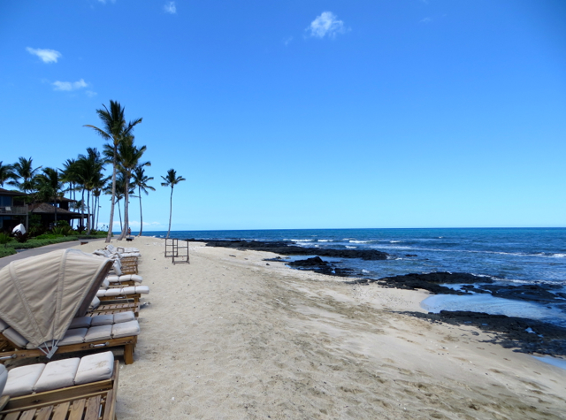 Four Seasons Hualalai Review - Beach and Lounge Chairs