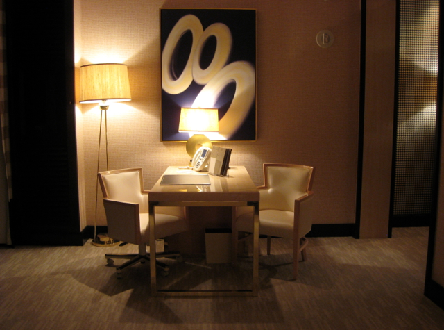 Desk in Panoramic Suite, Encore at Wynn Las Vegas