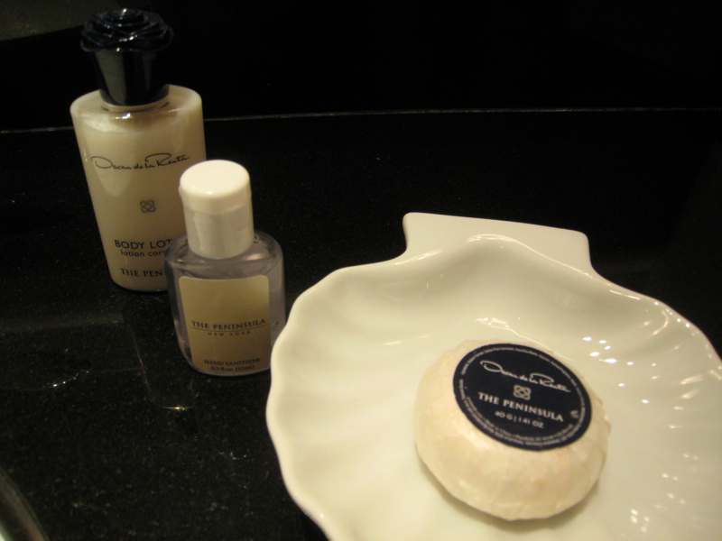 The Peninsula New York Review - Oscar de la Renta Moisturizer and Hand Sanitizer