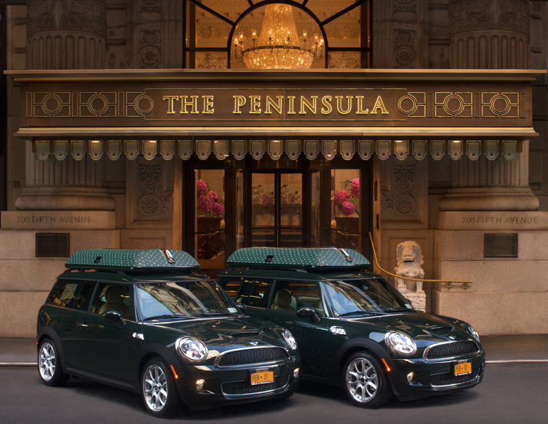 The Peninsula New York Review - Complimentary Use of Mini Cooper for Suite Guests