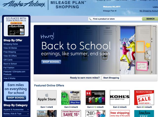 Alaska Mileage Plan Shopping: 8X for Nordstrom