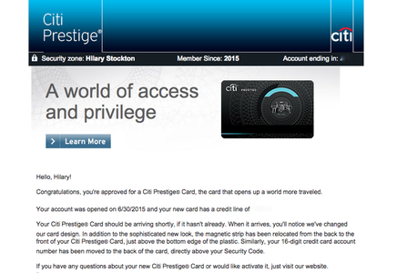 Approved For Citi Prestige Card After Declined Message No