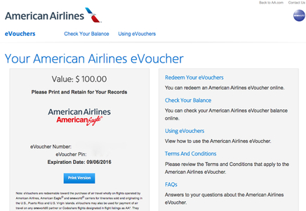 American Airlines Evoucher Compensation And Evoucher Rules