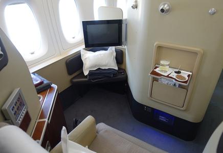 Review Qantas First Class A380 London To Dubai Travelsort