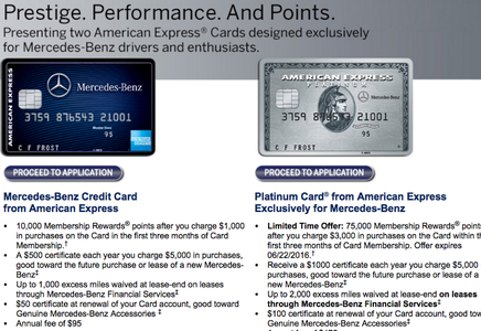 75k mercedes benz platinum amex bonus offer for 3k for Mercedes benz platinum card