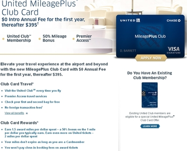 united credit card without annual fee